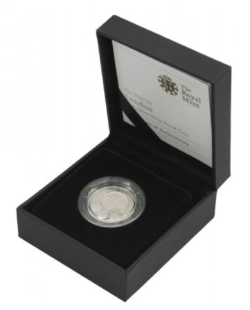 2010 Silver Proof Piedfort London One Pound